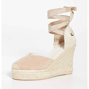 "NWOT Soludos Mallorca 4"" Suede Espadrille Wedges"
